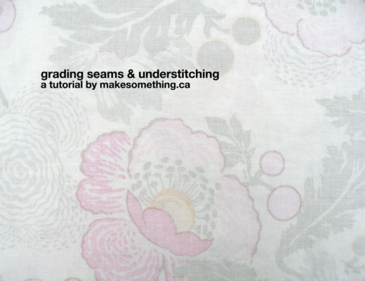 Grading Seams & Understitching Tutorial