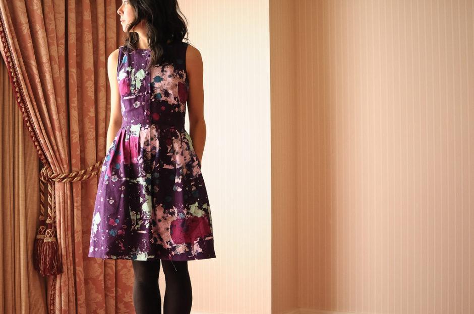 Simplicity 2215 Purple Drop Cloth