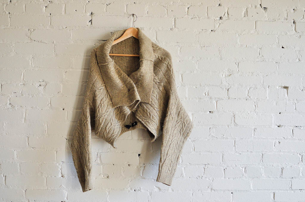 Men's Hugo Boss Sweater turned upside down