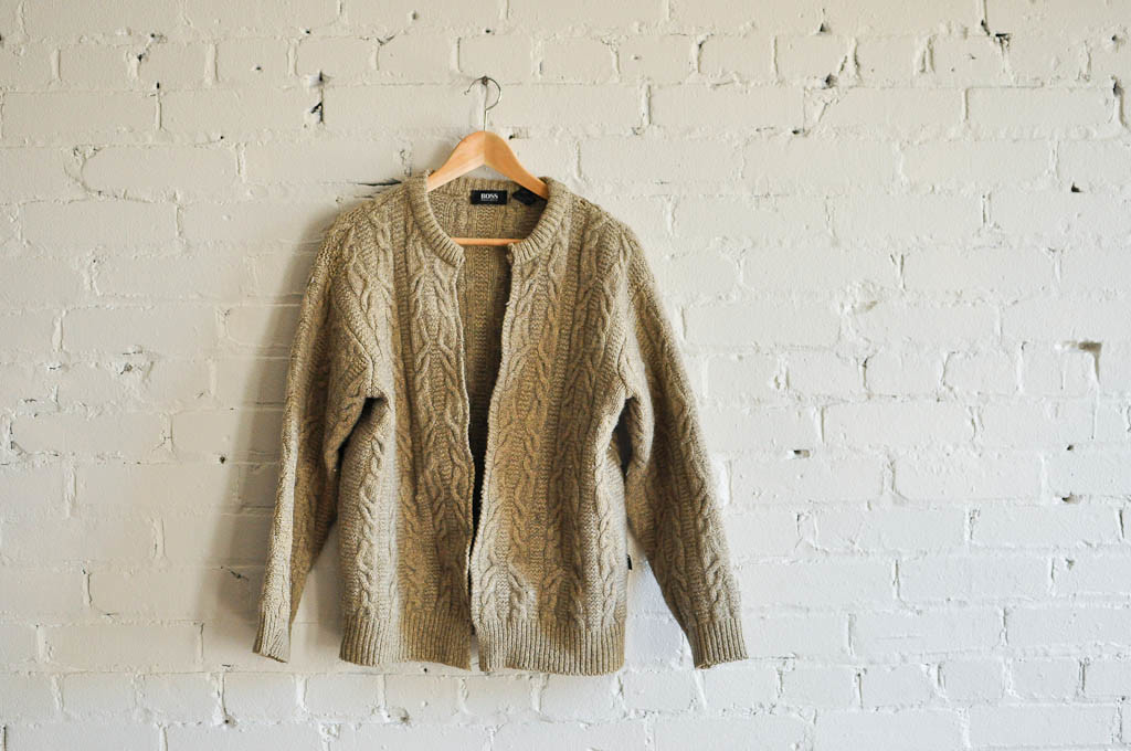Men's Hugo Boss Sweater felted & cut up the centre
