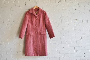 VOGUE 7003 : PINK WOOL COAT