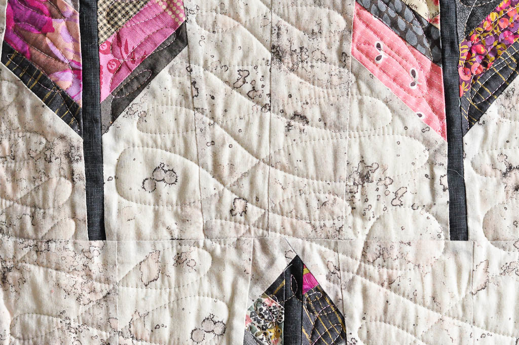 Feather Bed quilting detail