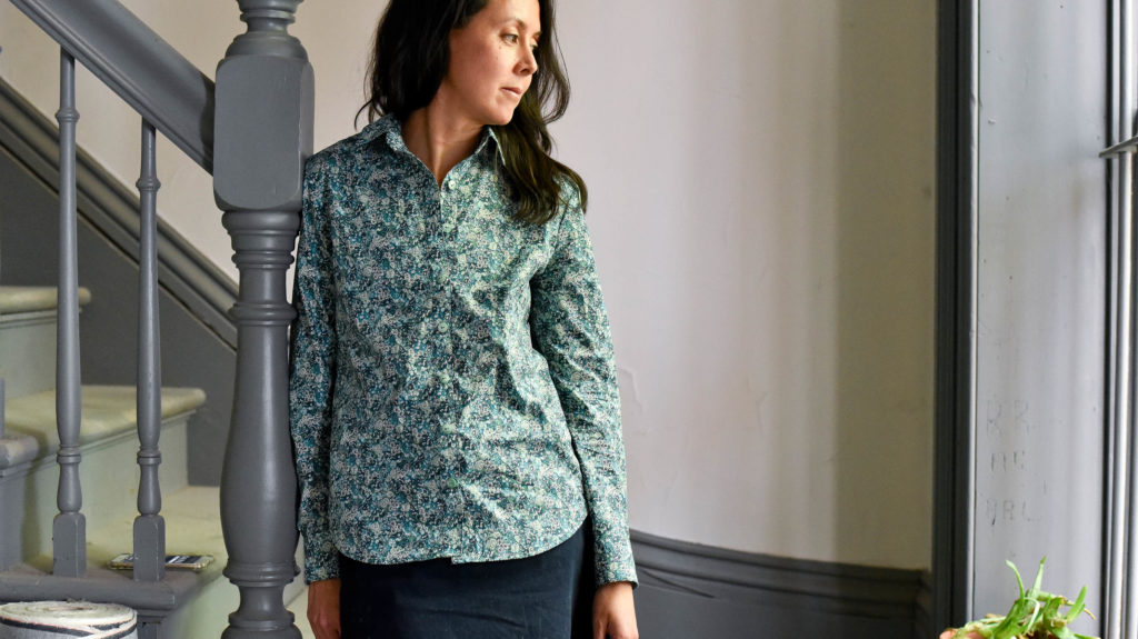 Grainline Archer Shirt : Liberty Chive