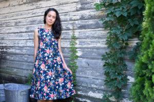 TRAPEZE DRESS : LES FLEURS