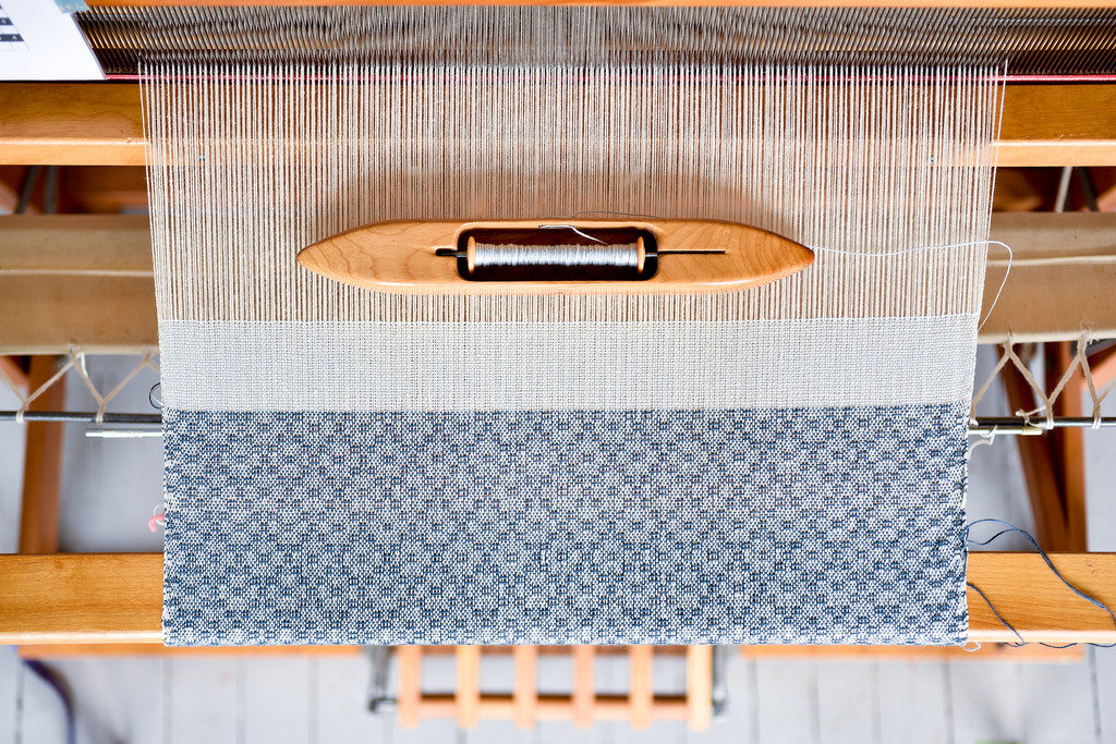 Heirloom Tea Towel weaving